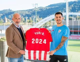 Yuri Berchichek 2024ra arte luzatu du kontratua Athleticekin